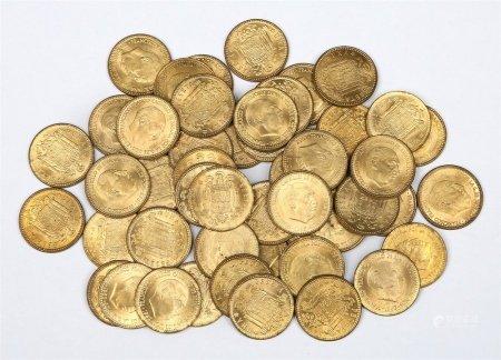 Cartucho de 50 monedas de 1 peseta, año 1963.