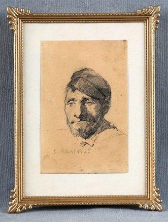 """RUSIÑOL, SANTIAGO. """"Retrato de Joaquín Vayreda""""."""