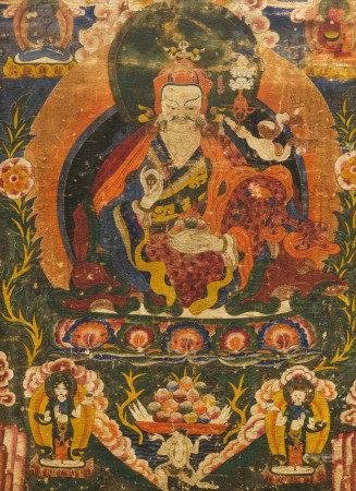 A 'Padmasambhava' or 'Guru Rinpoche' thangka, Tibet, 18th C.