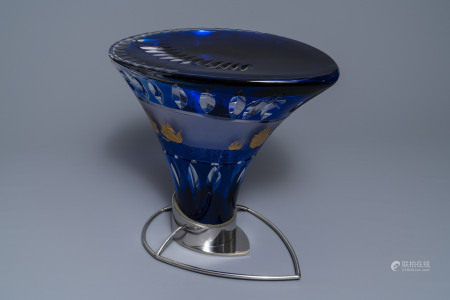 Frans van Praet (1937) for Val Saint Lambert: a crystal stool for the 1992 Seville expo