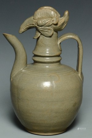 A SONG DYNASTY YUEYAO PHOENIX HEAD EWER