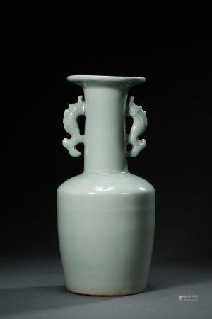 A Chinese Longquan Celadon Porcelain Vase Ming Dynasty