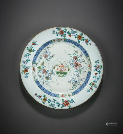 A Chinese Doucai and Famille Rose Floral Porcelain Dish