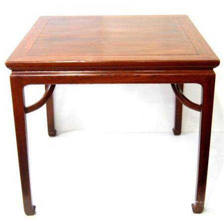 A Chinese Square Rosewood Table, Fangzhuo with Giant Arm Bra