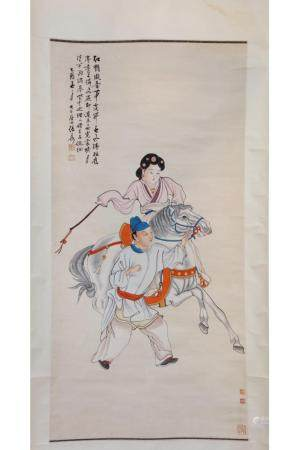 CHINESE INK AND COLOR PAINTING OF FIGURES