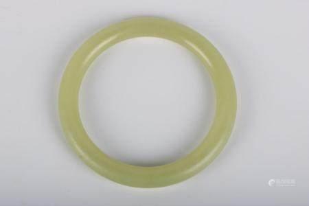 Chinese Yellow Jade Bracelet