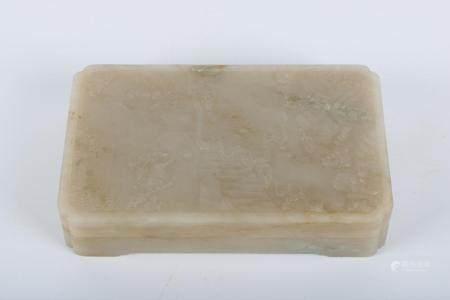 Chinese White Jade Inkpad Box