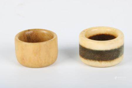 Chinese Group Of Tiger Bone Thumb Ring
