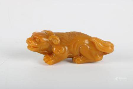 Chinese Stone Animal Handle