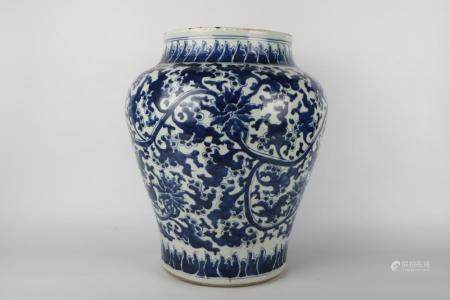 Chinese Kangxi Period Blue And White Porcelain Pot