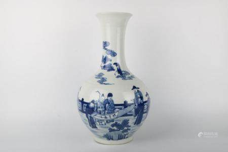Chinese Qing Dynasty Jiaqing Period Blue And White Porcelain