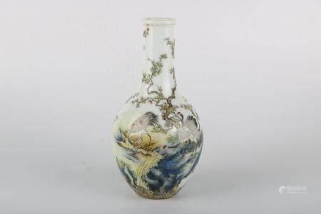 Chinese Enamel Color Porcelain Bottle