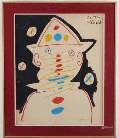After Pablo Picasso Clown Lithograph