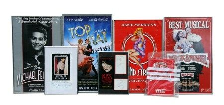 A group of theatre posters and programmes, some signed, to include 'Top Hat' and '42nd Street'.