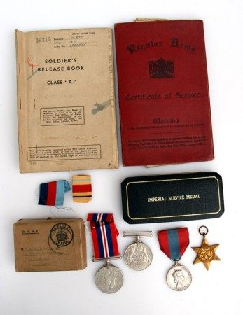 A Hussars Regular Army Certificate of Service enlisted 1926 with a Soldiers Release Book enlisted