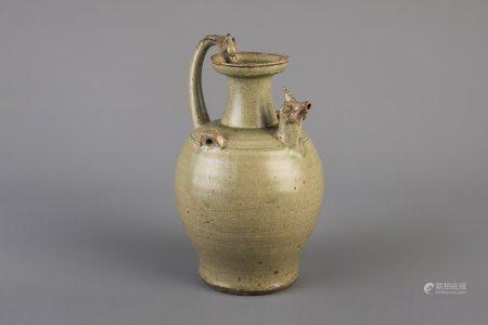 A celadon glazed jug, South-East Asia, possibly 17th/18th C.