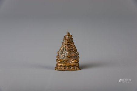 A Chinese bronze Buddha, 18th/19th C.