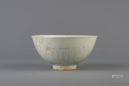 A Chinese anhua decorated celadon bowl, Ming