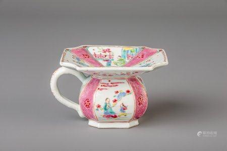 A Chinese famille rose spittoon, Yongzheng/Qianlong