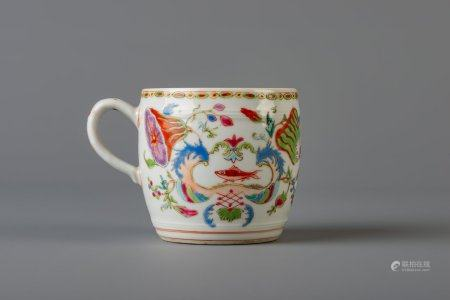 A Chinese famille rose 'Pompadour' mustard jar, Qianlong