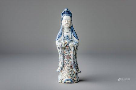 A Chinese doucai figure of a Guanyin, 19th C.
