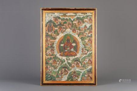 A Sino-Tibetan 'black lama' thangka, 19th C.