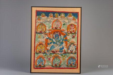 A Tibetan 'Mahakala' thangka, 19th C.