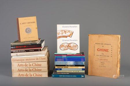 A collection of reference works on Chinese porcelain and works of art