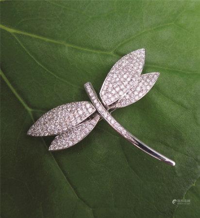 钻石蜻蜓别针