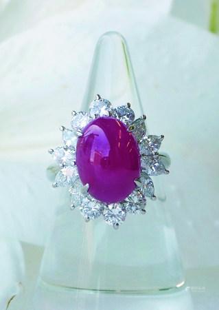 缅甸素面红宝石