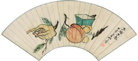 姚元之(1773~1852) 多福多寿 轴 纸本