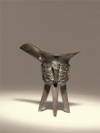 西周 青铜饕餮纹爵杯