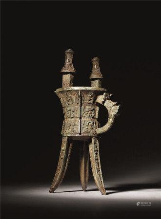 西周 青铜兽面纹斝