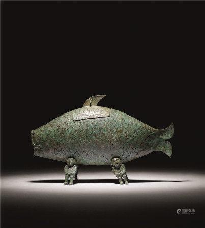 西周晚期 青铜鱼形尊