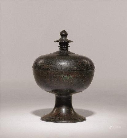 唐 青铜舍利盒