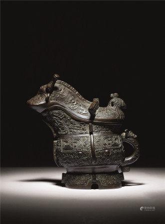 宋-明 铜兽面觥