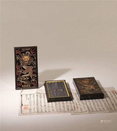 清 黄山二十景 (二盒一组)