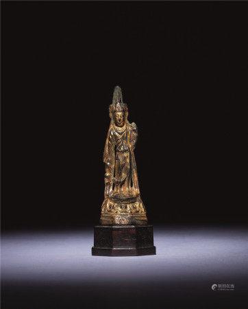 隋-唐初 铜鎏金观音立像