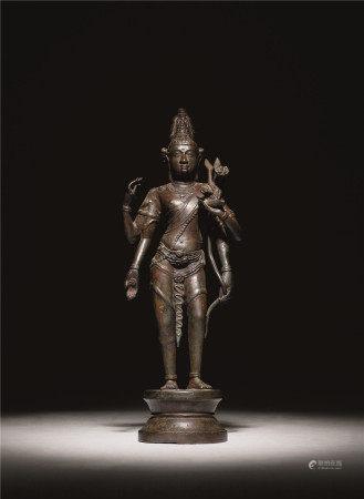 东印度铜四臂观音立像