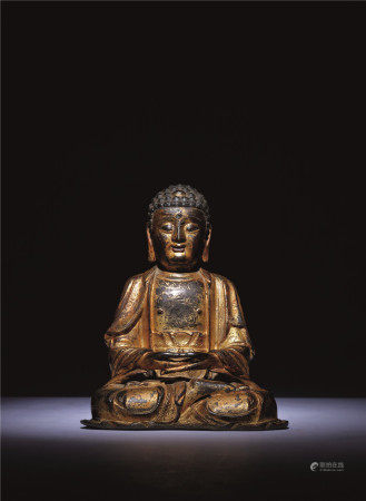 明 铜漆金释迦牟尼坐像