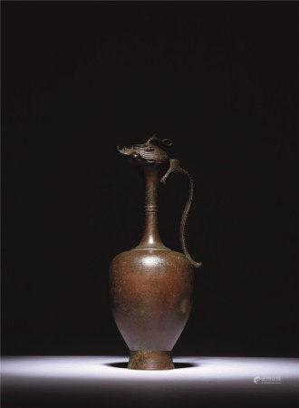 元 龙首铜净瓶