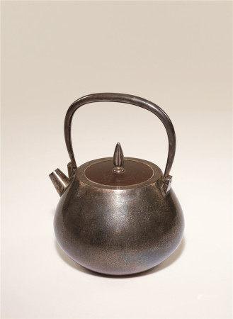 纯银雕秋虫铁盖炮口汤沸