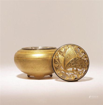 银鎏金香炉
