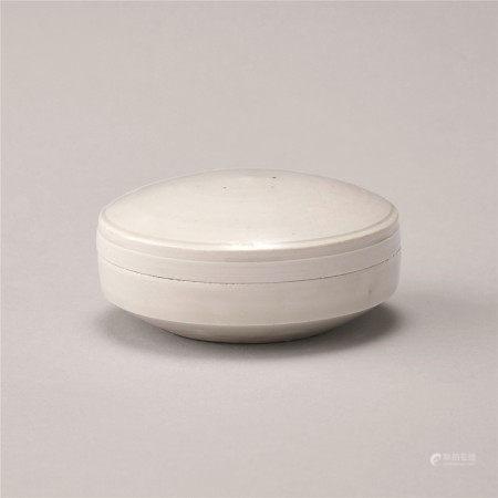 北宋 白瓷素纹盖盒