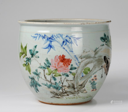 CHINESE QIANJIANG PAINTED PORCELAIN JARDINIERE
