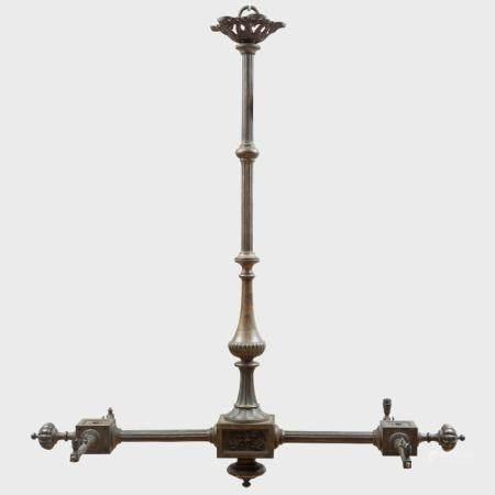 Victorian Bronze Four-Light Billiard Chandelier