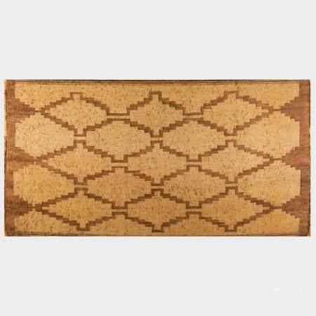 Tuareg Woven Reed and Leather Carpet