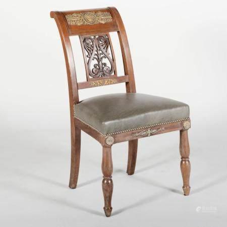 Empire Ormolu-Mounted Mahogany Side Chair