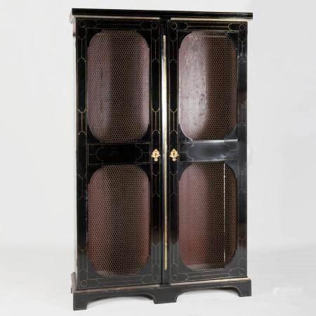 Louis XIV Brass Inlaid Ebonized Bibliothèque