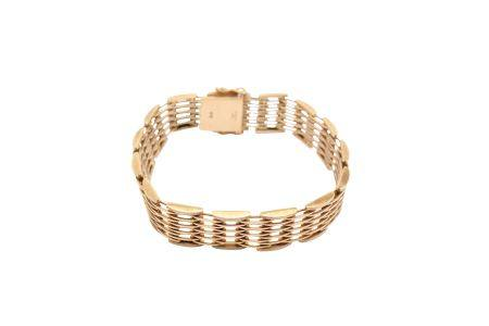 A gold fancy-link bracelet, 1967